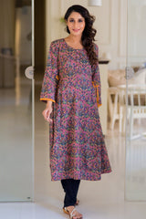 Salmon Double Tie Maternity & Nursing Kurta