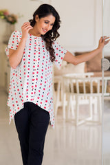 Serene White Maternity & Nursing Top