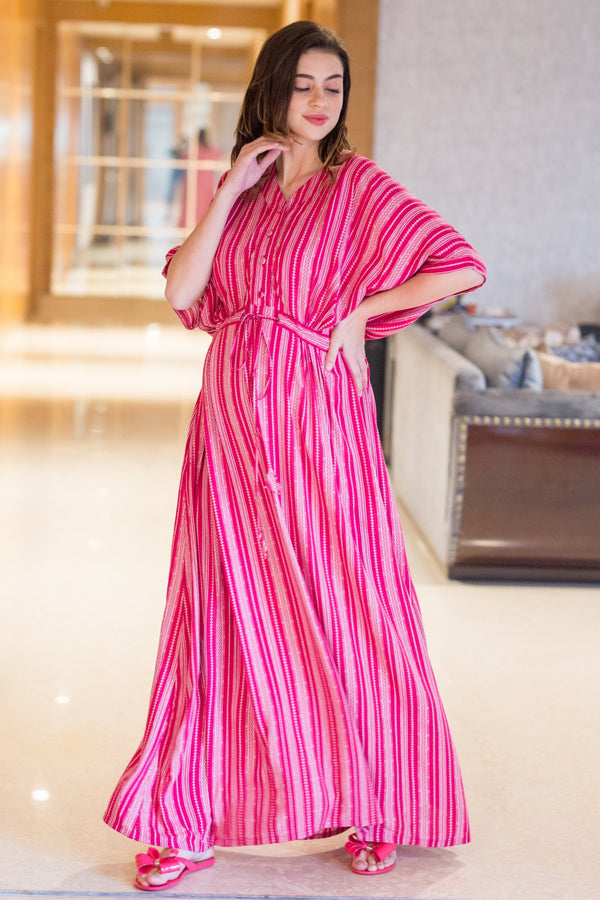 Ruby Kimono  Maternity & Nursing Dress / Delivery Gown/ Night Dress - MOMZJOY.COM