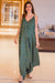 Emerald Cotton Maternity Jumpsuit - MOMZJOY.COM