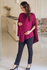 Sangria Asymmetrical Nursing Top