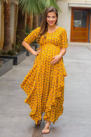 Luxe Marigold Floral Maternity Flow Dress