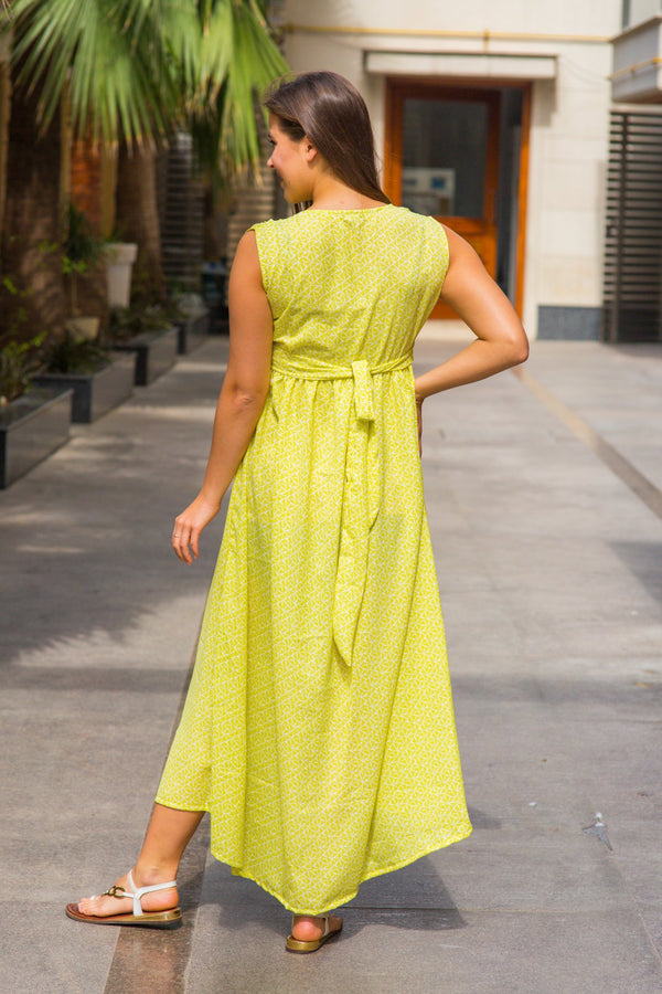 Cheery Lemon Maternity Knot Dress - MOMZJOY.COM