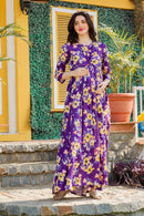 Pretty Violet Maternity Knot Dress