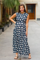 Ebony Floral Maternity & Nursing Sleeveless Wrap Dress - MOMZJOY.COM