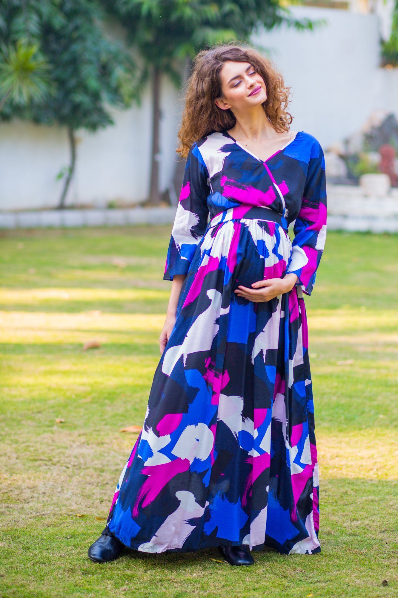 Miami Abstract Maternity & Nursing Maxi