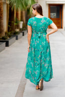 Exquisite Emerald Green Maternity Knot Dress
