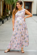 Cameo Pink Flair Maternity & Nursing Dress - MOMZJOY.COM
