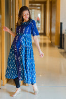 Amber Ikat Maternity & Nursing Dress Kurta - MOMZJOY.COM