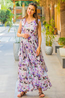 Luxe Lavender Maternity Flow Dress