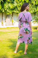 Arctic Rose Maternity & Nursing Flap Dress - MOMZJOY.COM