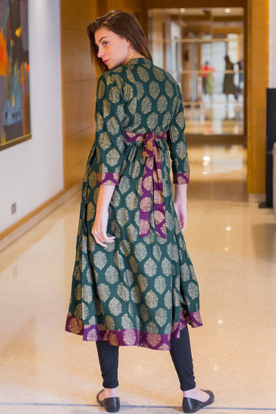 Emerald Jade Maternity and Nursing Kurta - MOMZJOY.COM
