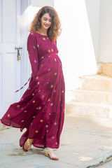 Crimson Layered Maternity & Nursing Dress - MOMZJOY.COM