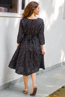 Scattered Polka Maternity & Nursing Dress - MOMZJOY.COM