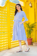 Serene Striped Maternity & Nursing Dress