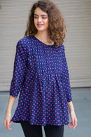 Bubble Polka Maternity & Nursing Top - MOMZJOY.COM