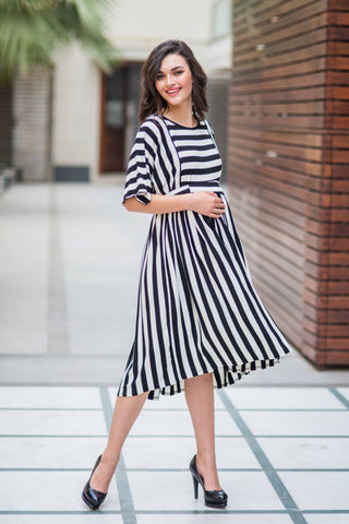 Classic Striped Maternity and Nursing Tunic