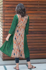 Mocha Green Maternity & Nursing Kurta