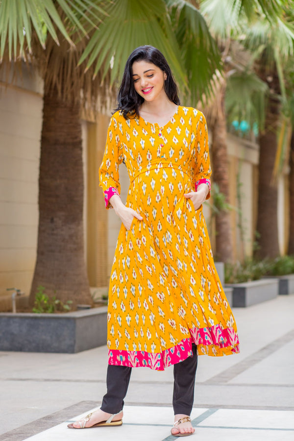Honeydew Maternity & Nursing Anarkali Kurta