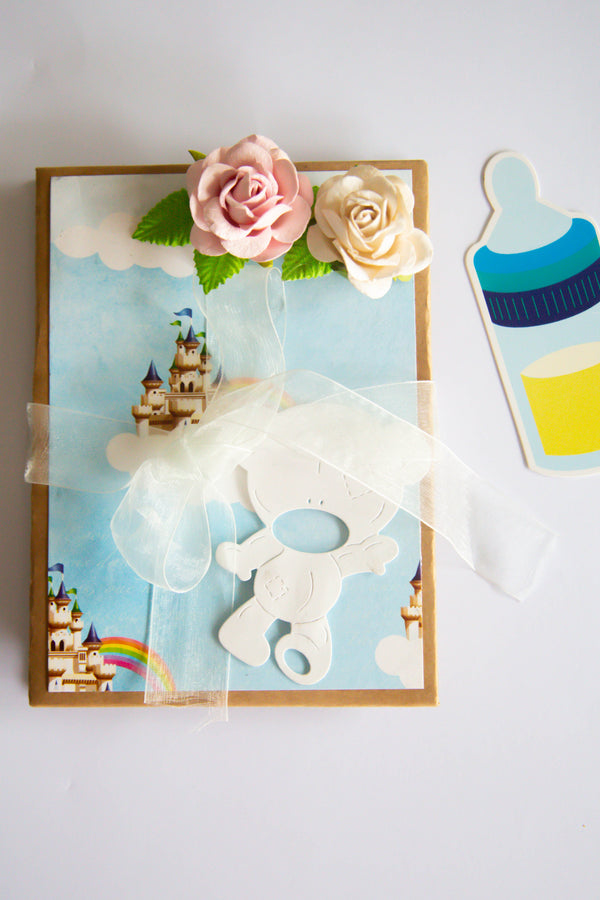Soft Blue Foldable Baby Frame