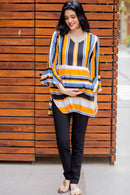 Timeless Multicolor Striped Nursing Top