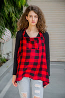 Red Plaid Nursing Cover
