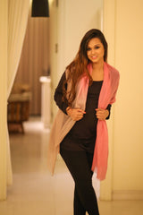 Luxe Pink Ombre Silk Modal Scarf