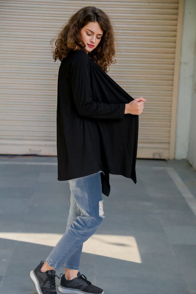 Timeless Black Maternity Shrug