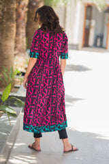 Abstract Cider Maternity and Nursing Cotton Kurta