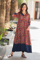 Indian Traditional Thread Motif Maternity & Nursing Kurta
