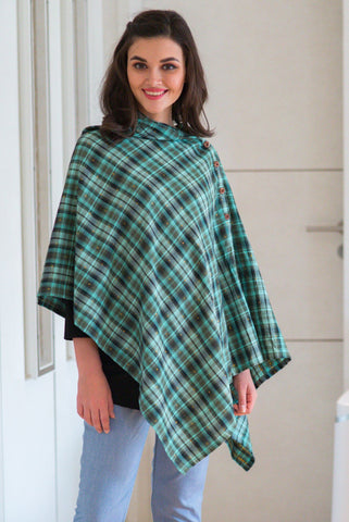 Emerald Gold Embellished Nursing Stole