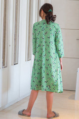 Botanical Mint Maternity & Nursing Night Dress