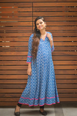 Indigo Flair Maternity Kurta