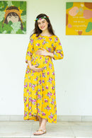 Floral Sunny Maternity Knot Dress