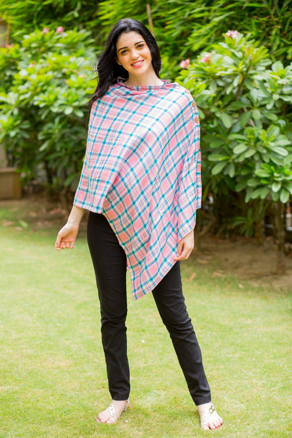 Rouge Pink Plaid Versatile Nursing Stole