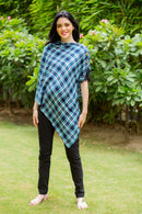 Exclusive Aqua Plaid Versatile Nursing Stole