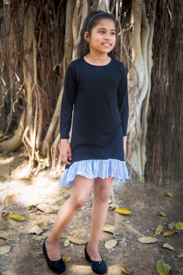 Classic Jade Frill Dress (3 months to 8 years) - MOMZJOY.COM