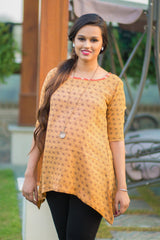 Carrot Orange Viscose Maternity Top