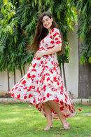 Venetian Floral Maternity & Nursing Flair Dress