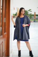 Navy Blue Chic Maternity & Nursing Dress - MOMZJOY.COM