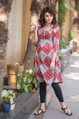 Crimson Red Maternity Kurta