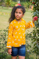 Sunny  Floral Front Button Top (1 yr to 8 years)