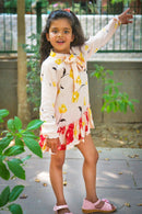 Peachy Floral Frill Dress (1 month to 8 years) - MOMZJOY.COM
