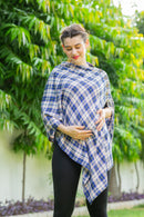 Plum Check Cotton Nursing Stole