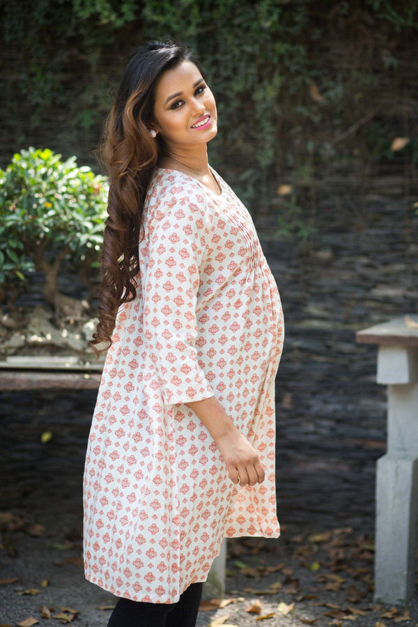 Momzjoy Maternity & Nursing Kurta, Kurti, Maternity Wear, Pregnancy Indian Clothes Online