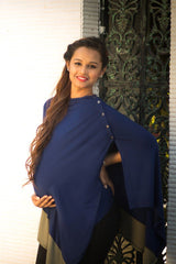 Double Color Versatile Nursing Stole - MOMZJOY.COM - 3