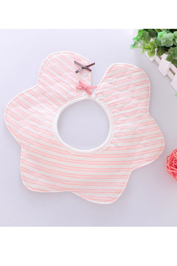 Pastel Pink Tie Cotton Baby Bib (0-3 years) - MOMZJOY.COM