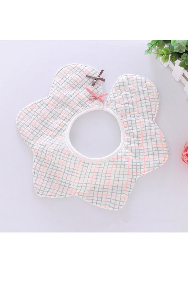 Check Cotton Baby Bib (0-3 years) - MOMZJOY.COM