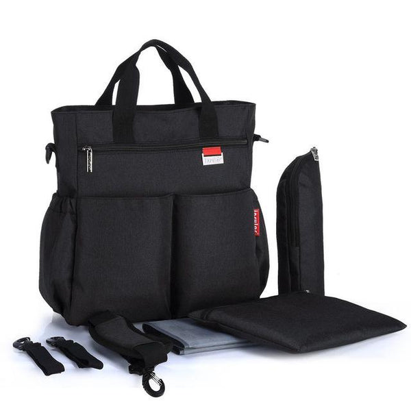 Classic Black Multifunctional Travel Diaper Bag - MOMZJOY.COM