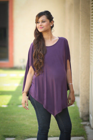 Free Size Asymmetrical Maternity Top - MOMZJOY.COM - 1